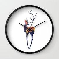 elk Wall Clocks featuring Elk by Caylie Noelle