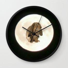 Moonrabbit 2 Wall Clock