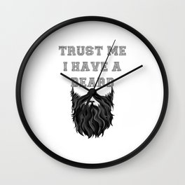 Trust me I have a Beard Wall Clock