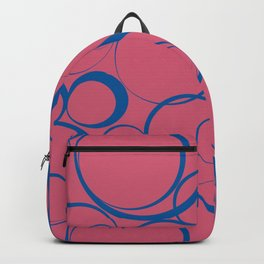 Ring Pattern V60 2021 Color of the Year Accents Fruit Dove 17-1926 Pink Skydiver 19-4151 Blue Backpack