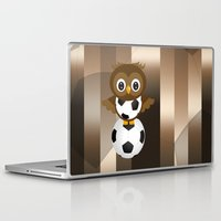 soccer Laptop & iPad Skins featuring Soccer Owl by Simone Gatterwe