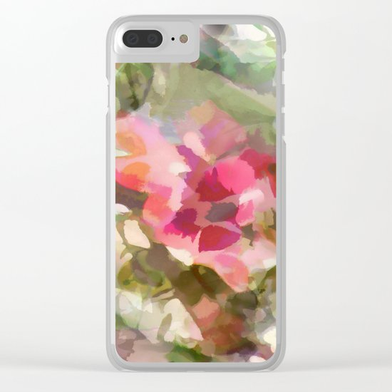 Floral Design Clear iPhone Case