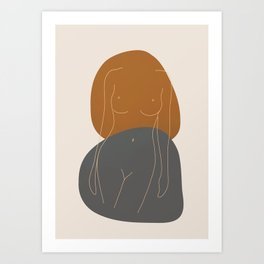 Line Female Figure 81 Art Print