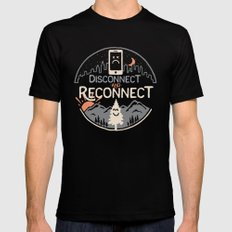 Reconnect... Mens Fitted Tee MEDIUM Black