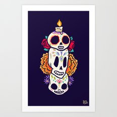 Caliveras Day of the Dead Art Print