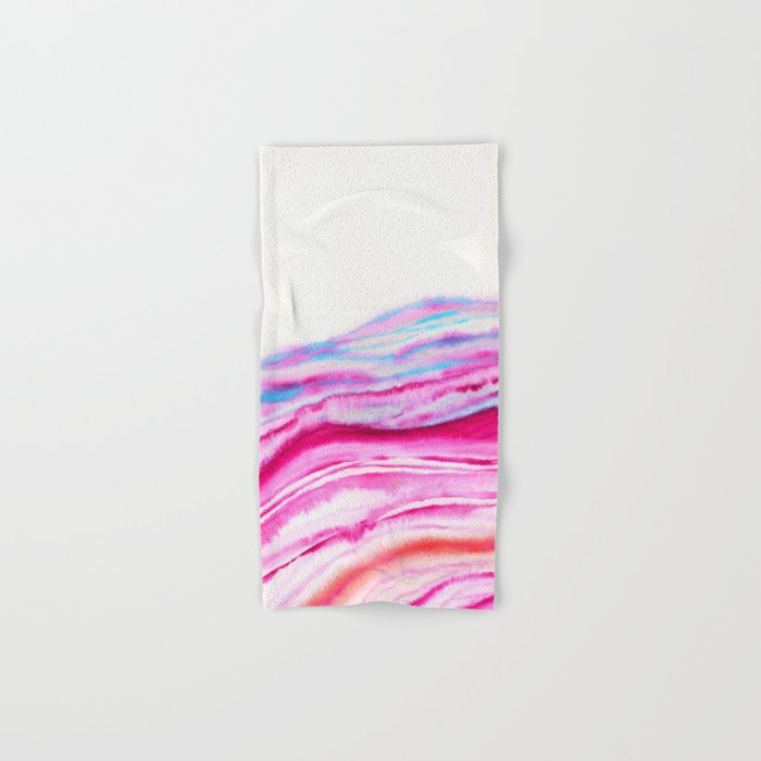 AGATE Inspired Watercolor Abstract 08 Hand & Bath Towel
