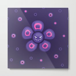 Purple Evil Flower Metal Print