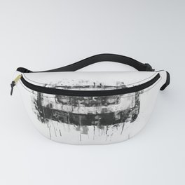 cassette / tape Illustration black and white painting Fanny Pack