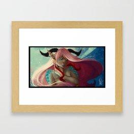 Pink Dragon Framed Art Print