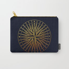 The golden compass- maritime print with gold ornament Carry-All Pouch