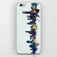 melbourne iPhone & iPod Skins featuring Melbourne Skyline by artPause