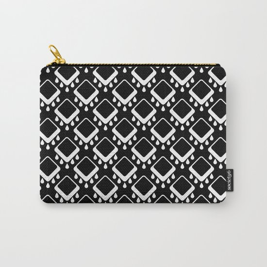 Abstract colorful geometric pattern . Black white . Carry-All Pouch