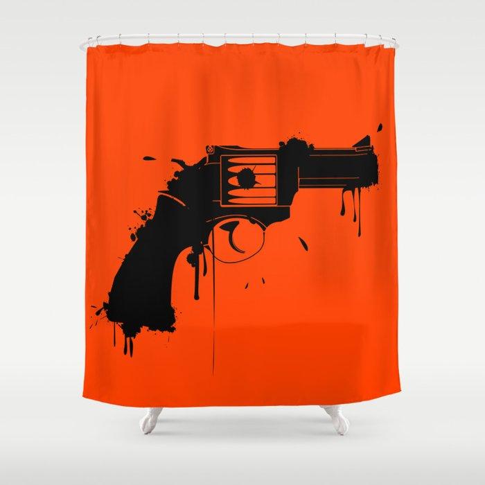 Grunge Gun Shower Curtain