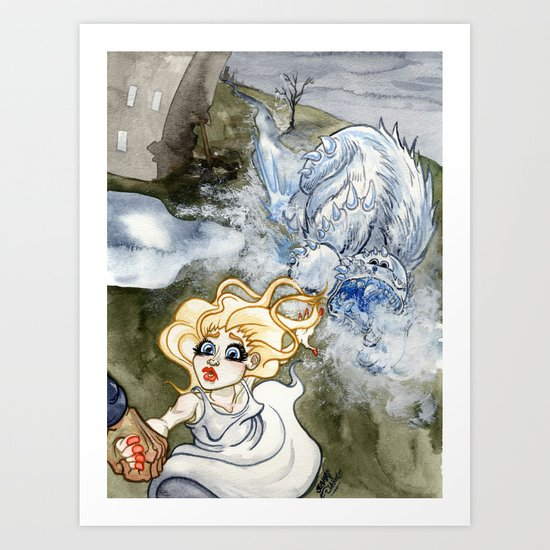 Nightmare of the Ice Beast Art Print