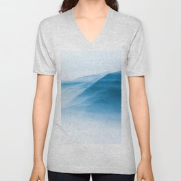 Snowy Blue Mountains (Color) Unisex V-Neck