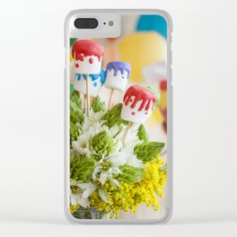 marshmallow art Clear iPhone Case