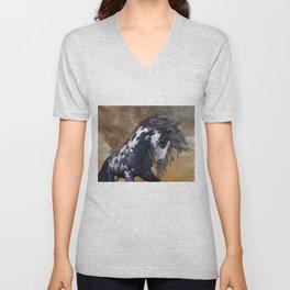 Storm, wild horse, fantasy Unisex V-Neck