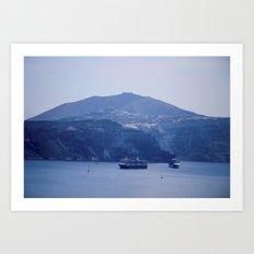 Santorini, Greece 8 Art Print