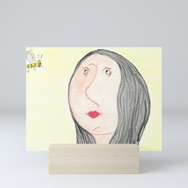 The bee and the woman Mini Art Print