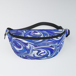 China Blue Paint Swirls Fanny Pack