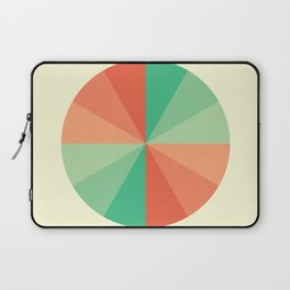 The Coral-Mint Wheel Laptop Sleeve