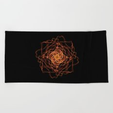 Fire Rose Beach Towel