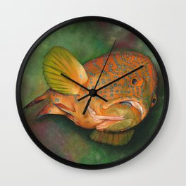 Coral Grouper Wall Clock