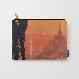 Mont St Michel, French Travel Poster Carry-All Pouch