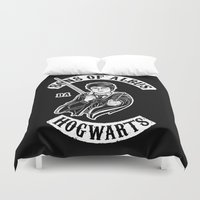 sons of anarchy Duvet Covers featuring Sons of Albus by Six Eyed Monster