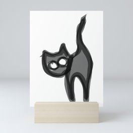 Peeking Cat Mini Art Print