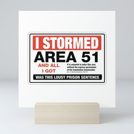 Area 51 Martian Law Mini Art Print