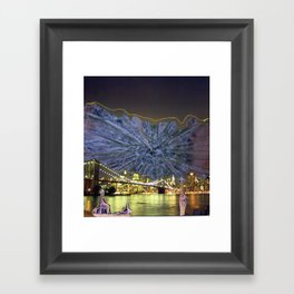 Cactus Over DUMBO Framed Art Print