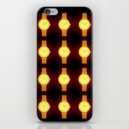 Luminous Wristwatches on Black Illustration iPhone Skin