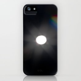 rainbow full-moon iPhone Case