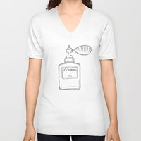 perfume V-neck T-shirts featuring Perfume by Baloo