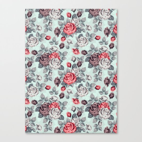 Flowers pattern2 Canvas Print