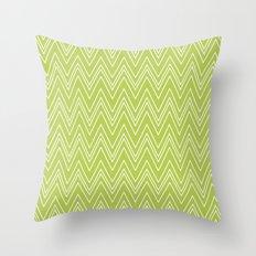 Lime Skinny Chevron Throw Pillow