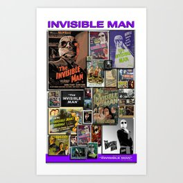 Vintage Invisible by iamjohnlogan Art Print