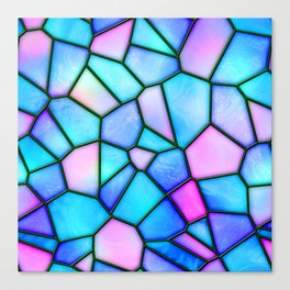 pastel stained glass Canvas Print