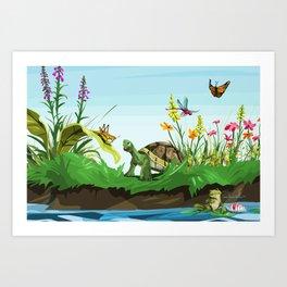 Wetlands 2 Art Print