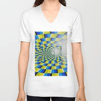 holographic V-neck T-shirts featuring Radial Structure by Anya Campbell by BohemianBound