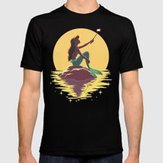 The Little Mermaid - Ariel Selfie MEDIUM Mens Fitted Tee Black