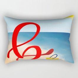 Baby B at the Beach Rectangular Pillow