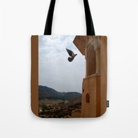 wings Tote Bags featuring Wings by Nyay Bhushan