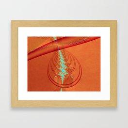 Orange Red Fractal Loop Drop Eye Framed Art Print