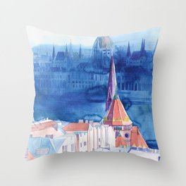 Morning in Budapest Throw Pillow
