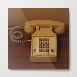 Vintage Retro Telephone Metal Print