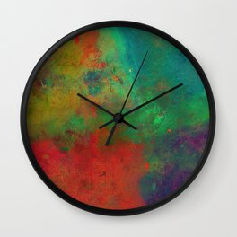 Lose Yourself In Colour (Abstract, textured painting) Wall Clock