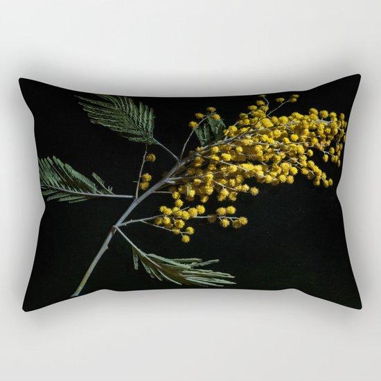 Silver Wattle Flowers Rectangular Pillow