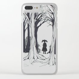 Girl Faces the Future Clear iPhone Case